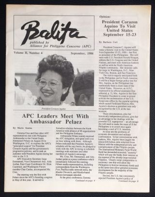 Balita. Vol. 2 no. 4 (Sept. 1986