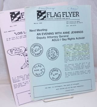 Flag Flyer: Federal Lesbians and Gays newsletter March & May 1989 [two issues