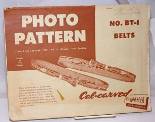 Photo Pattern. Created and Copyright 1948 - Pat. Pending. Designs by Fred Raposa. No. BT-1 Belts,...