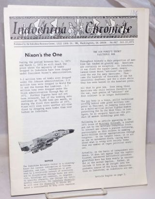 Indochina Chronicle; No. 6 & 7, Oct. 15, 1971
