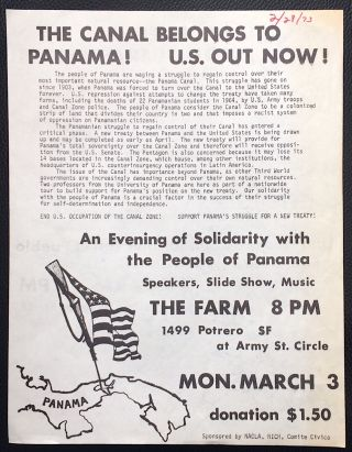 The Canal belongs to Panama! US out now! [handbill