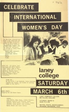 Celebrate International Women's Day. Laney College, Saturday, March 6th [handbill