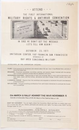 Attend the First International Military Rights and Antiwar Convention [handbill