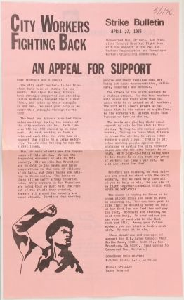 City Workers Fighting Back: Strike Bulletin. April 27, 1976. An appeal for support