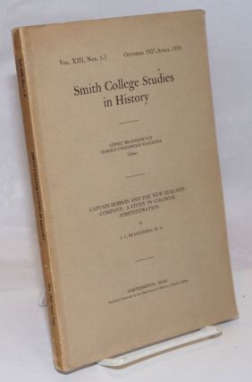 Smith College Studies in History: Vol. 8, Nos. 1-3, October 1927-April 1928. Sidney Fay Harold...