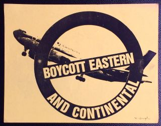 Boycott Eastern and Continental [handbill