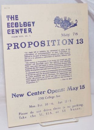 The Ecology Center: Volume 8, No. 5, May '78