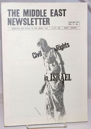 The Middle East Newsletter: Vol. 5, No. 1, January 1971