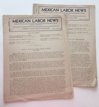 Mexican Labor News [two issues: vol. 3 nos. 1 and 2