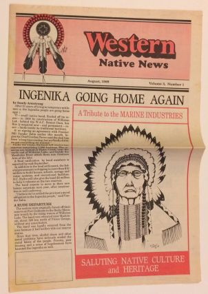 Western Native News. Vol. 3 no. 1 (August 1989