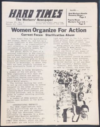 Hard Times, the Workers' Newspaper. Vol. 2 no. 2 (March 23, 1976