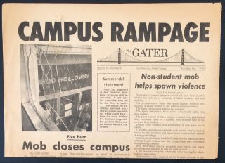The Gater. Vol. 97, no. 51 (Dec. 7, 1967). Campus Rampage