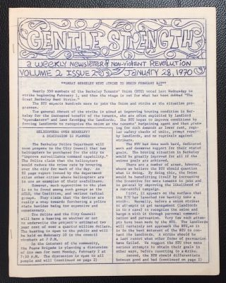Gentle Strength: a weekly newsletter of nonviolent revolution; Vol. 2 No. 2 (Jan. 28, 1970