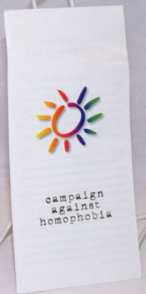 Campaign Against Homophobia [brochure