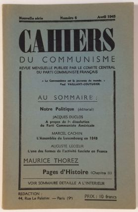 Cahiers du Communisme. Nouvelle serie, No. 6 (April 1945