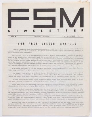 FSM Newsletter. No. 5 (November 10, 1964). Barbara Stephen Gillers Garson, eds, and