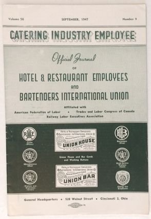 The catering industry employee. Vol. 56 no. 9 (Sept. 1957