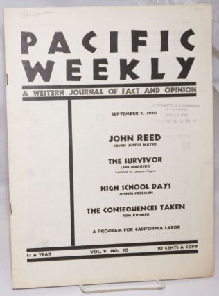 Pacific weekly: a Western journal of fact and opinion; Vol. 5 No. 10, September 7, 1936