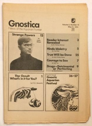Gnostica News of the Aquarian Frontier. Vol. 3 no. 10 (May 21, 1974