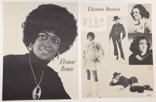 Eleanor Brown [promotional brochure for an African American model, together with a separate sheet...