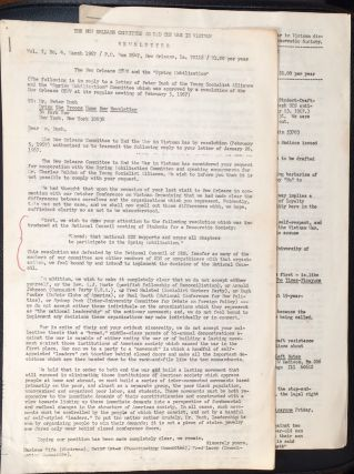 Newsletter. Vol. 1 no. 5. New Orleans Committee to End the War in Vietnam