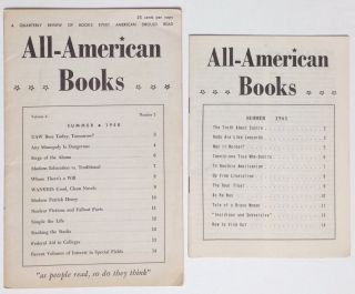 All-American Books [two issues: Summer 1958, Summer 1961