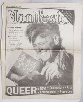 Manifesto: the non-heterosexual newspaper of the Monterey Bay vol. 3, #9, July 1999; Summer...