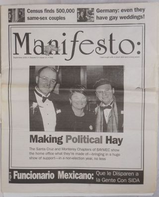 Manifesto: gay news for the Monterey Bay vol. 5, #11, June 2001; Making Political Hay. Mark...