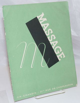 Massage [cover title] Le Massage [titlepage