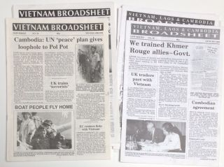 Vietnam Broadsheet (new series) [Later the Vietnam, Laos and Cambodia Broadsheet]. Eight issues