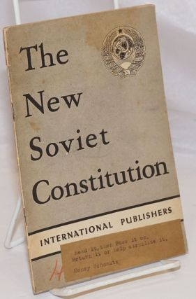 The New Soviet Constitution