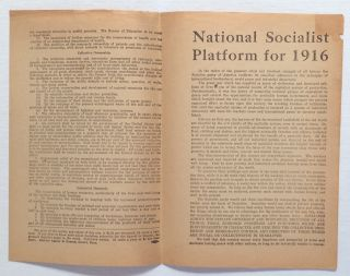 National Socialist Platform for 1916. Socialist Party