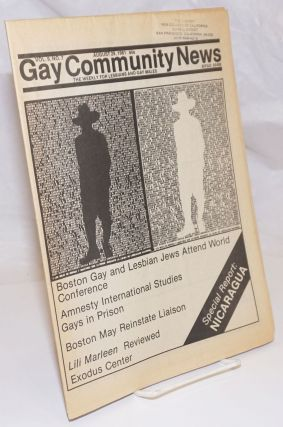GCN: Gay Community News; the weekly for lesbians and gay males; vol. 9, #7, August 29, 1981;...