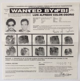 Wanted by FBI: Luis Alfredo Colon-Osorio