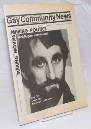 GCN: Gay Community News; the weekly for lesbians and gay males; vol. 9, #21, December 12, 1981;...