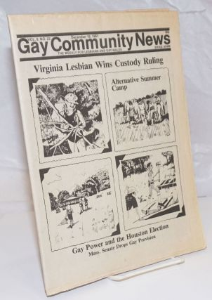 GCN: Gay Community News; the weekly for lesbians and gay males; vol. 9, #22, December 19, 1981;...