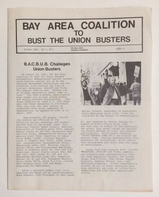 Bay Area Coalition to Bust the Union Busters. Vol. 1 no. 2 (October 1980