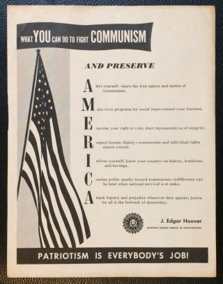 What YOU can do to fight COMMUNISM and preserve America [handbill