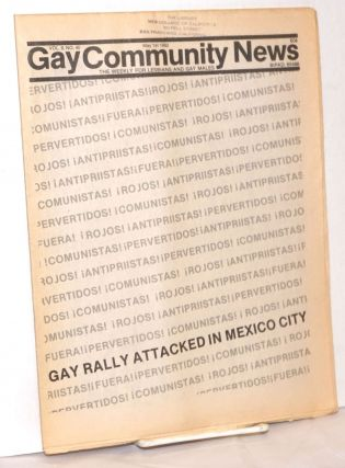 GCN: Gay Community News; the weekly for lesbians and gay males; vol. 9, #40, May 1, 1982; Gay...