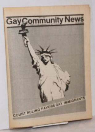 GCN: Gay Community News; the weekly for lesbians and gay males; vol. 9, #41, May 8, 1982; Court...