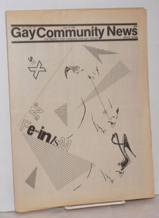 GCN: Gay Community News; the weekly for lesbians and gay males; vol. 9, #42, May 15, 1982; Sex...