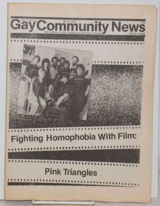 GCN: Gay Community News; the weekly for lesbians and gay males; vol. 9, #44, May 29, 1982;...