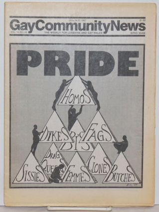 GCN: Gay Community News; the weekly for lesbians and gay males; vol. 9, #46, June 14-20, 1982;...