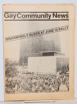 GCN: Gay Community News; the weekly for lesbians and gay males; vol. 9, #48, June 26, 1982;...