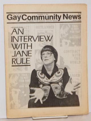 GCN: Gay Community News; the weekly for lesbians and gay males; vol. 12, #18, November 17, 1984;...