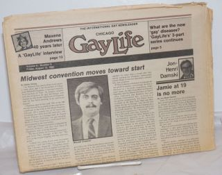 Chicago GayLife: the international gay newsleader; vol. 8, #9, Friday, August 13, 1982; What are...