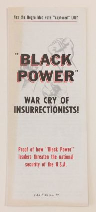 """Black Power,"" War Cry of Insurrectionists! Proof of How ""Black Power"" Leaders Threaten the..."