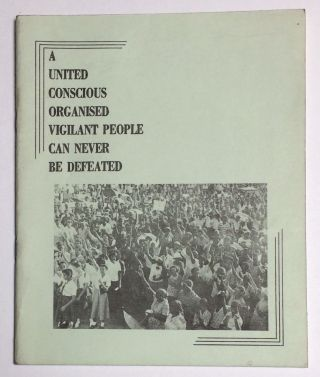 A united conscious organized vigilant people can never be defeated. [Interior title: New martyrs,...