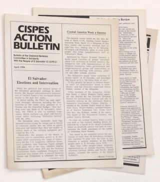 CISPES Action Bulletin [four issues