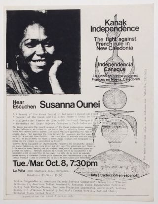 Kanak Independence: The Fight Against French Rule in New Caledonia... Hear Susanna Ounei [handbill